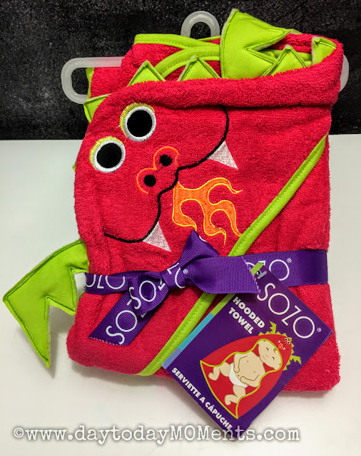 Dragon towel for kids