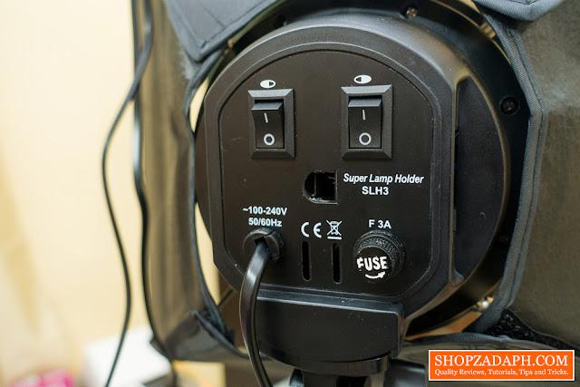 softbox lighting review - 4 socket bulb holder