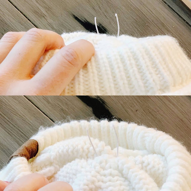 Add a Pom to Any Hat!  Turn a regular beanie into a pom beanie for under $3.  This super easy project requires zero skills and is so easy you will be adding poms to all of your hats!  See more at Midwesternmama.com