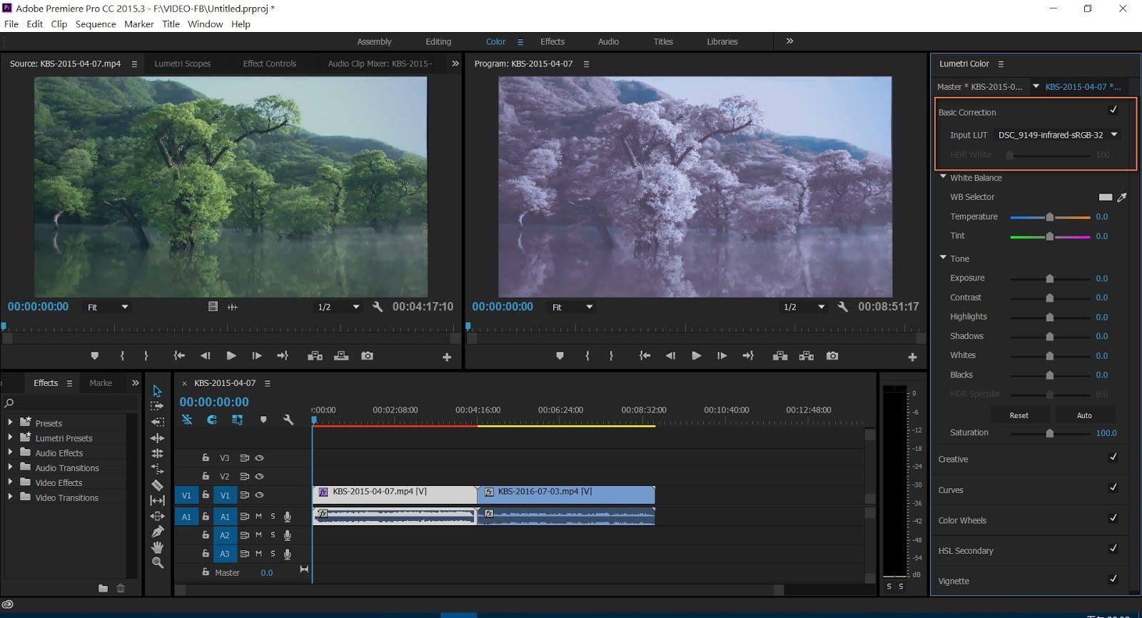 在Adobe Premiere Pro CC中套用3D LUT電影調色 ~ 愛攝影