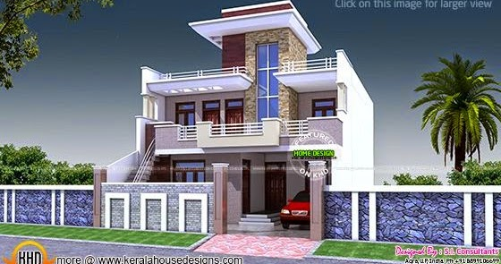 Single Floor Elevation U : House plan india kerala home design and floor plans