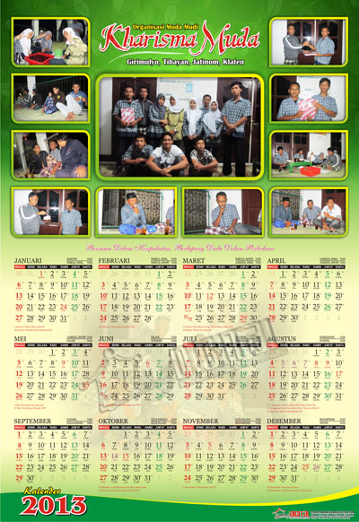 Desain Kalender 1 Lembar - Gubug Gallery