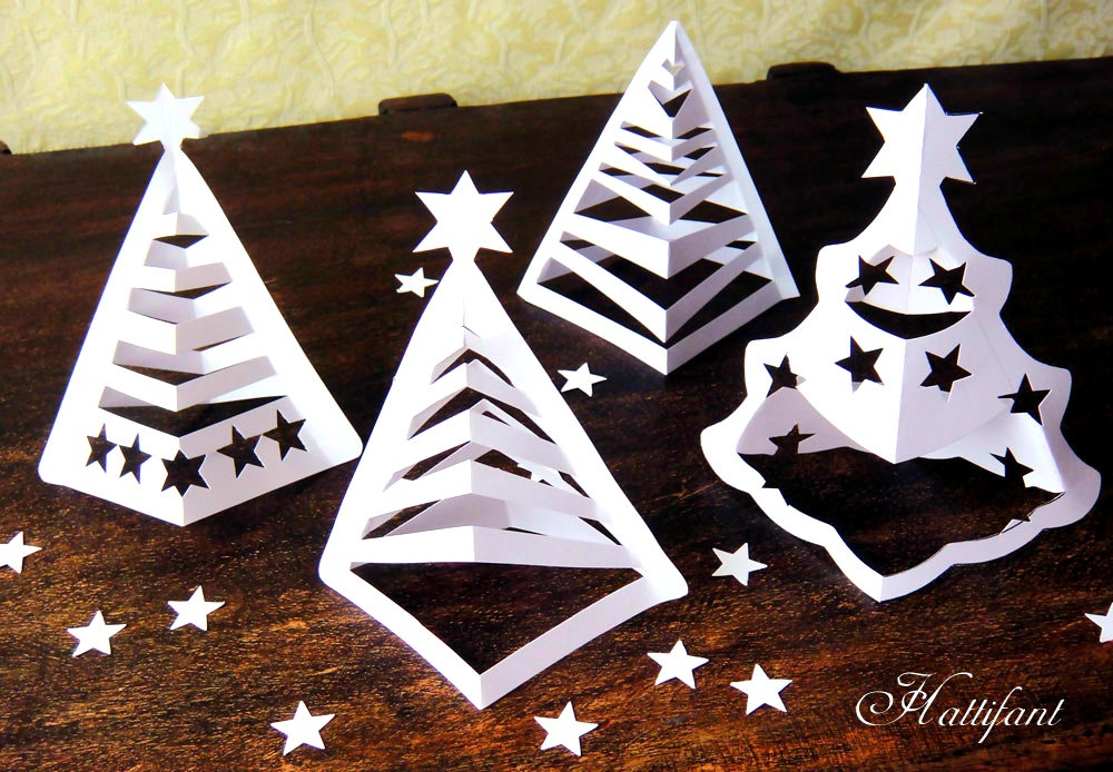 8 schemes to create charming 3d christmas trees paper