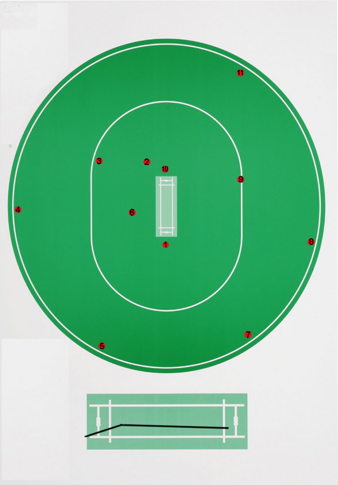 here s another warne field for t20 not a great deal of difference from the former post the only real difference is that the cover fielder is a lot closer  [ 1115 x 1600 Pixel ]