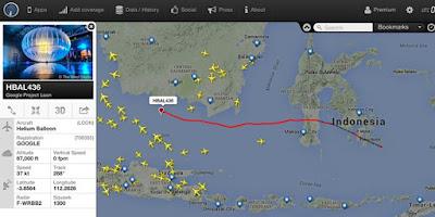 Project Google Loon atau Balon Google di Indonesia
