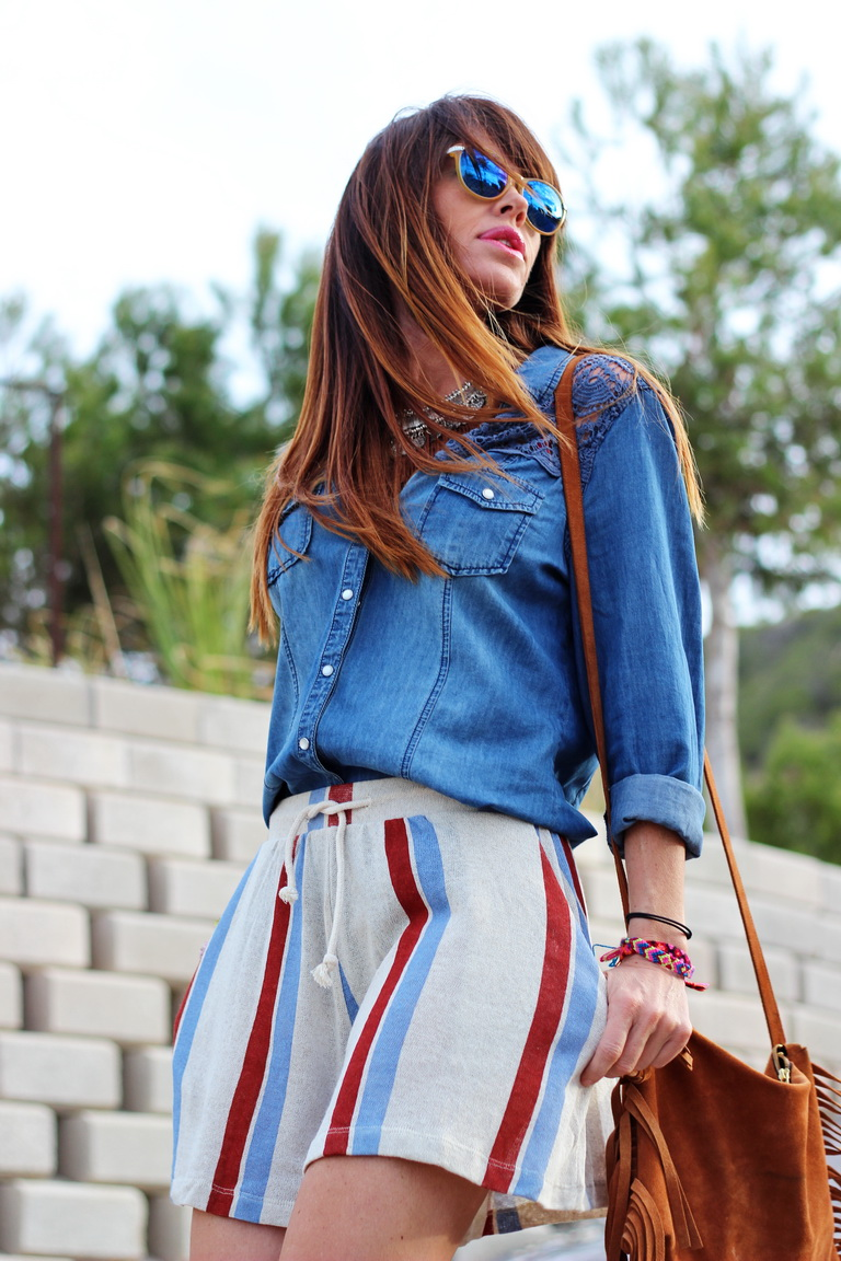 Streetstyle - Fashion blogger - Tendencias 2016 - Shorts Zara - Denim - Calzados Sandra