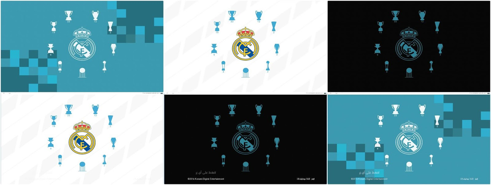 PES 2018 / PES 2017 Real Madrid StartScreen by Last Fiddler