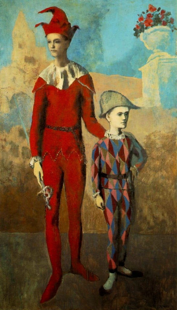 Pablo Picasso Acrobat and Young Harlequin