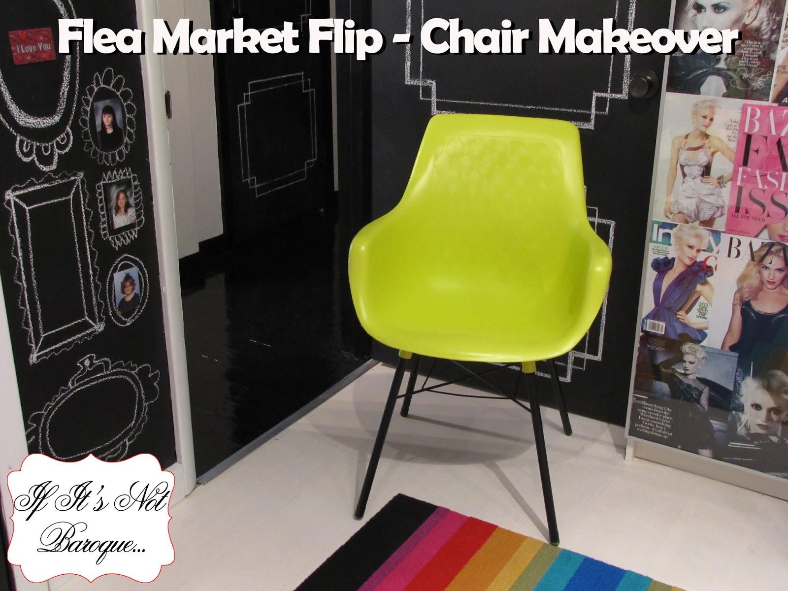 If It S Not Baroque Flea Market Flip Chair Makeover