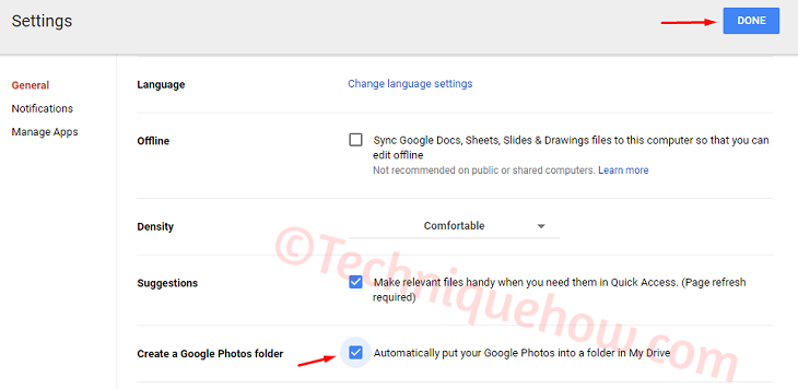 Google Photos in Google Drive Account