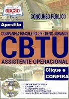 Apostila Concurso Trens Urbanos de BH - CBTU Belo Horizonte 2016.