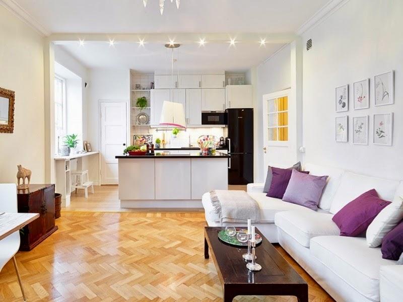 Cómo dividir una cocina de la sala   colores en casa