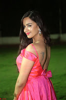 Actress Pujita Ponnada in beautiful red dress at Darshakudu music launch ~ Celebrities Galleries 070.JPG