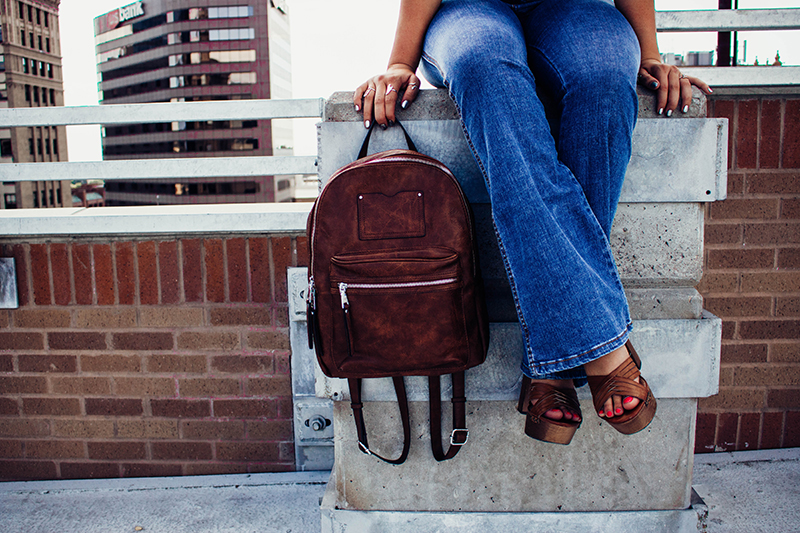 faux leather backpack, leather bag, leather purse