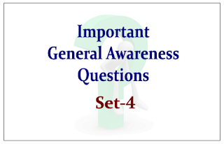 List of Expected General Awareness Questions for Upcoming RBI/SBI Exams 2015 Set-4