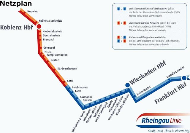 RheingauLinie SE10 (VIA) 車班路線圖