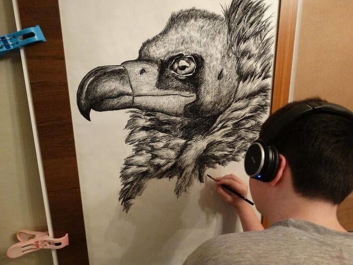 03-Vulture-Dušan-Krtolica-No-Reference-Drawings-come-from-Memory-www-designstack-co