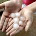 Granizo cai em Laranjeiras e deixa moradores assustados