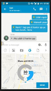 Fitur Glympse bbm for android