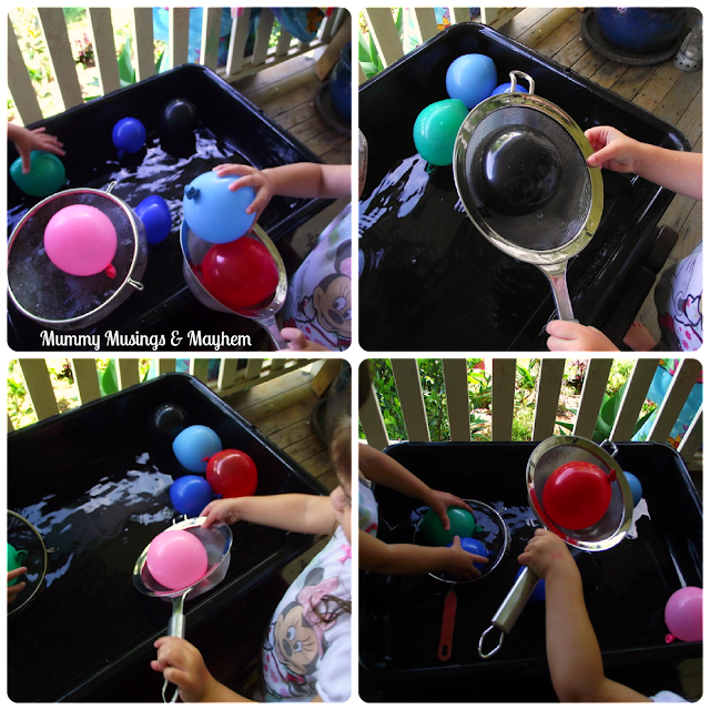 Toddler fine motor water play