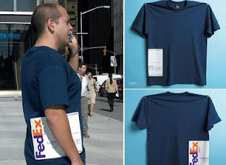 creative t-shirt advertising