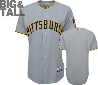 Big and Tall Pittsburgh Pirates Road Away Jersey