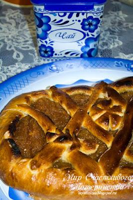 открытый пирог с яблочным джемом