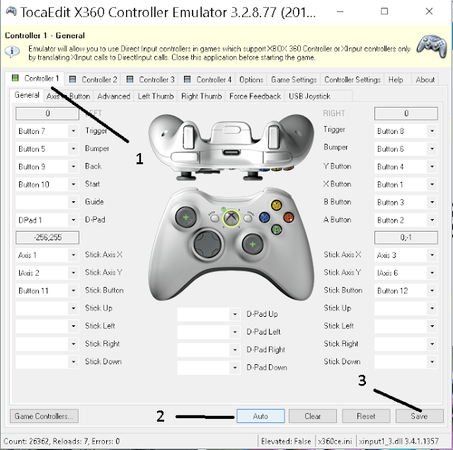 gamepad settings
