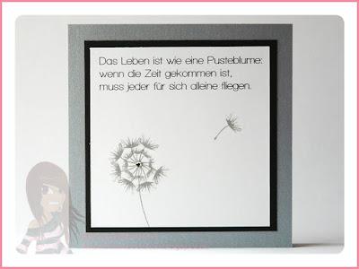 Stampin' Up! rosa Mädchen Kulmbach: Trauerkarte mit Pusteblume aus Partyballons