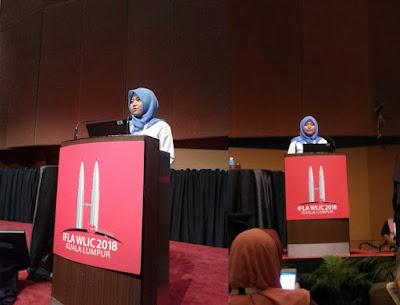 Atin Istiarni, IFLA WLIC 2018, Kuala Lumpur, Malaysia