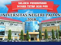 UNP Buka Lowongan Kerja Dosen Tetap Non PNS Bulan Maret 2018