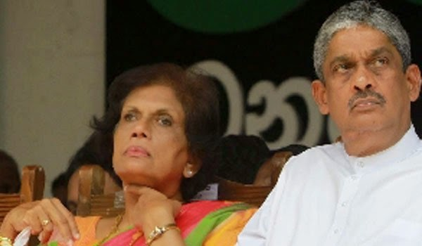 Smear fight against Chandrika and Sarath Fonseka
