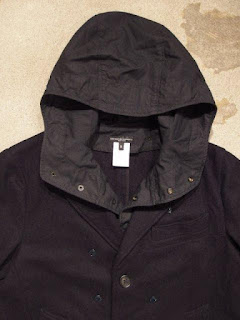 "Engineered Garments & FWK by Engineered Garments ""Chester Coat in Dk.Navy 20oz Melton"""
