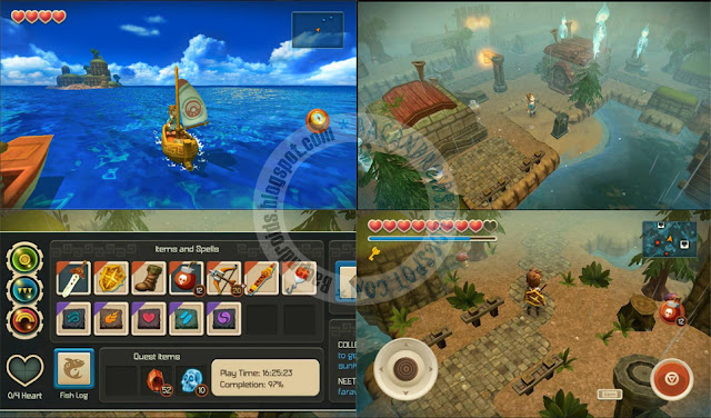 Oceanhorn v1.1 Apk Data terbaru mod Unlocked + Money Terbaru update