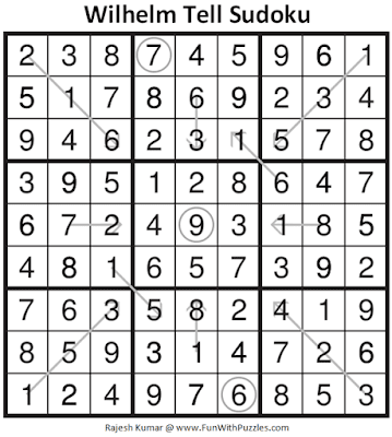 Answer of Wilhelm Tell Sudoku Puzzle (Fun With Sudoku #326)