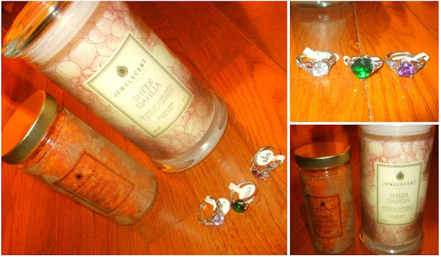 jewel scent rings in candle