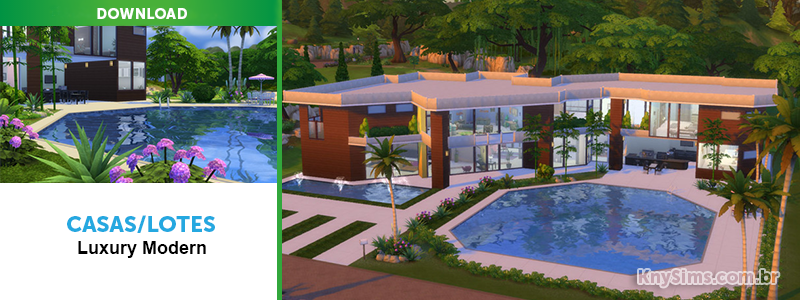 Download casas lotes luxury modern para the sims 4 knysims for Casas modernas sims 4 paso a paso