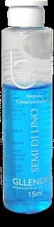 Resenha Ampola Blue Saphir (Semi di Lino) Gllendex azul misturada com hidratação, será que dá certo?