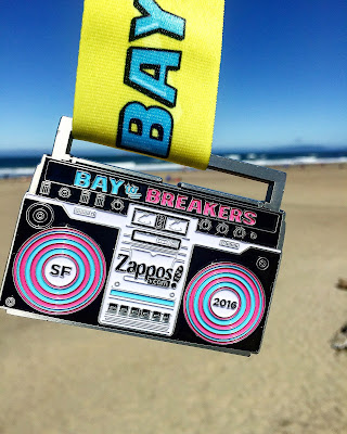 Bay to Breakers medal 2016