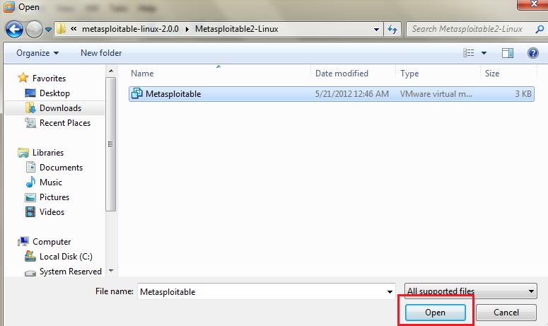 Installing Metasploitable 2 in VMware Player
