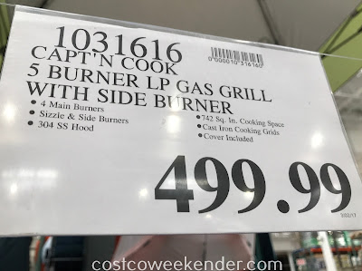 Deal for the Capt'N Cook 5-Burner Gas Grill at Costco
