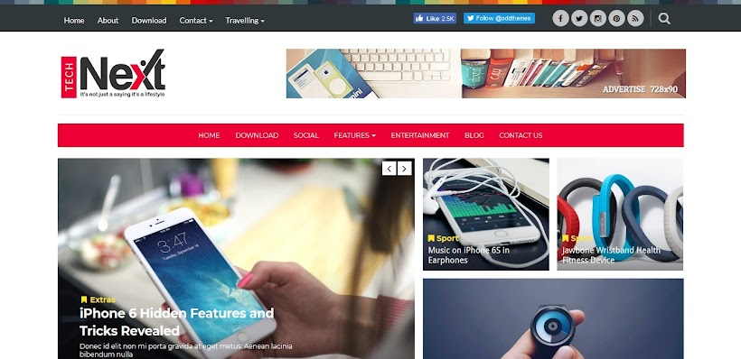 Technext Free Blogger Template