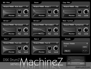 Download Free VST Plugins for FL Studio : DSK Drumz MachineZ