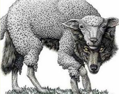 Image result for O λύκος κι αν εγέρασε κι άσπρισε το μαλλί του....