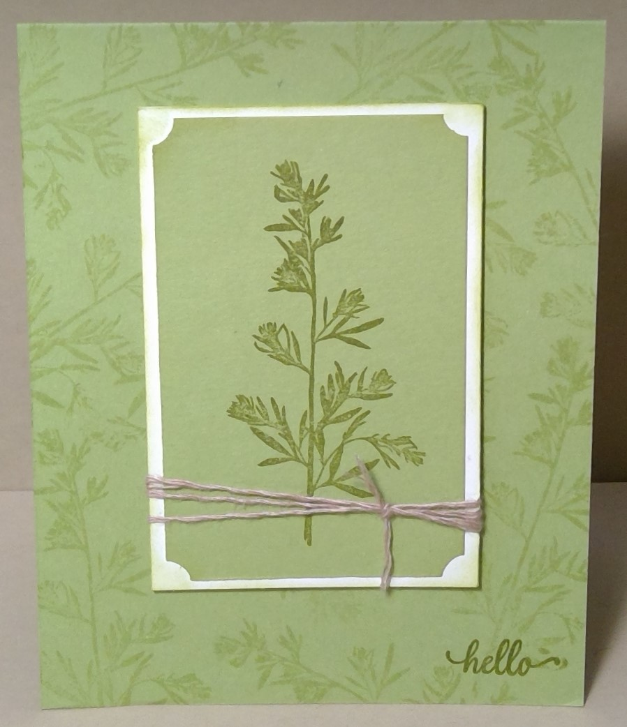 A Card Made With One Colour And Stamp