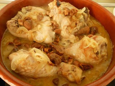 pollo con higos y miel en cazuela