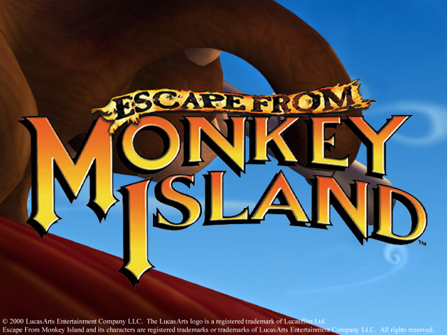 Escape from Monkey Island pc title screen