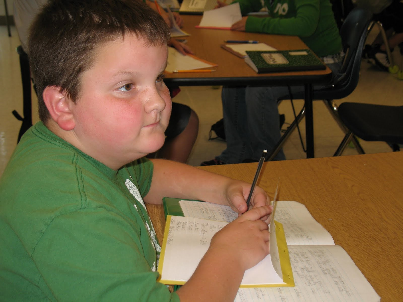 Mrs Elizabeth S Science Room 6th Grade Students Study