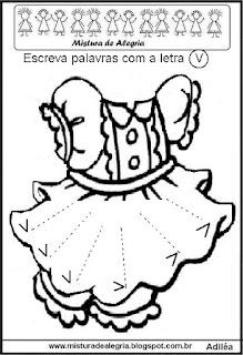 Festa junina-formar palavras no vestido