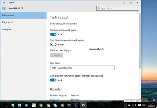 Windows'da Kış Saati Uygulaması Nasıl Kapatılır?